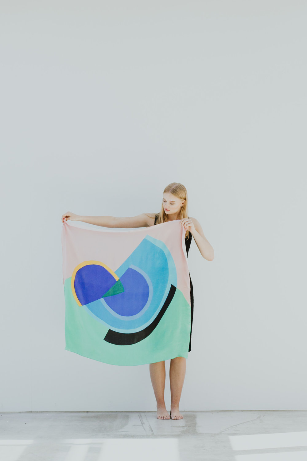 Colourful wearable art: Scarves by One of Twelve /photography by Jenny Wu