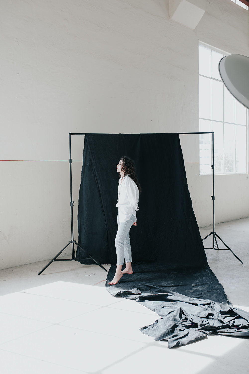 Natural light minimalist editorial portrait  - Fashion and commercial photographer Jenny Wu Straight No Chaser Photography