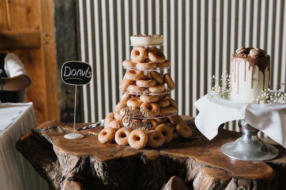 Donut wedding cake Wedding reception, Rustic South Coast Wedding, Jenny Wu Straight No Chaser Photography Canberra