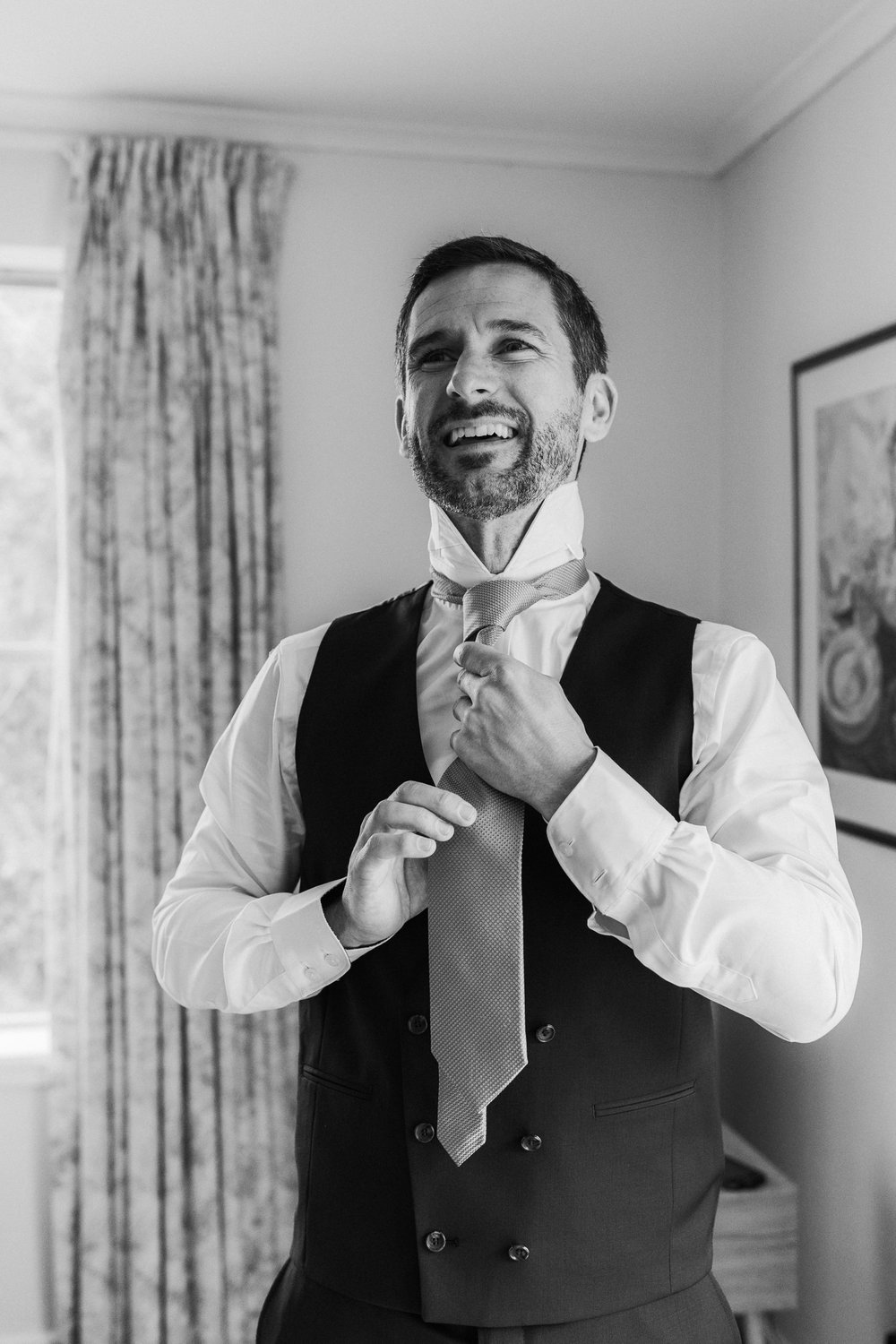Groom Prep Boathouse Wedding Canberra - Photography by Jenny Wu Straight No Chaser Photography