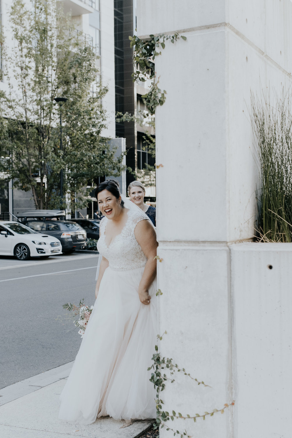 Bride and Groom First Look Hotel Realm Canberra Wedding Photography Jenny Wu Straight No Chaser