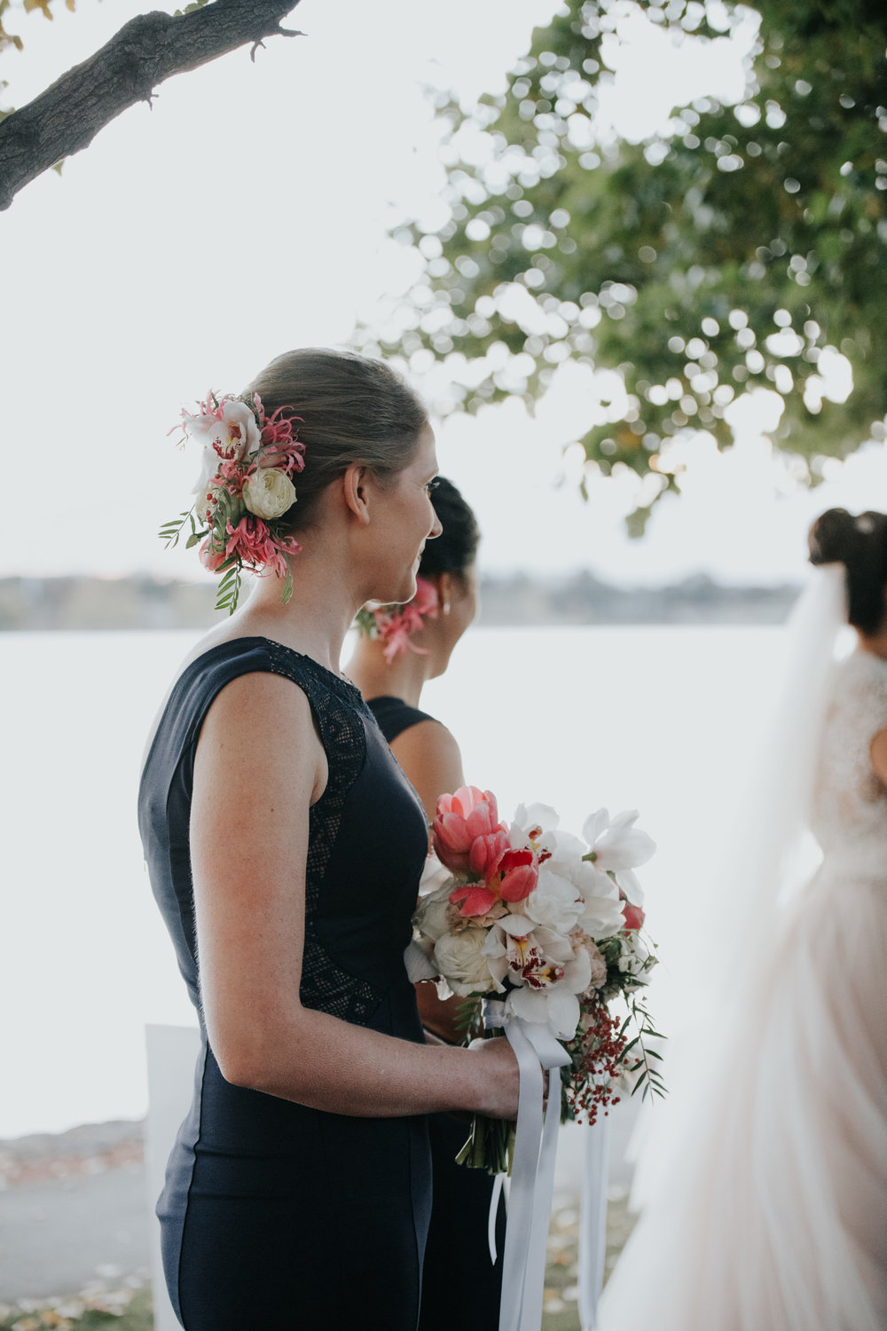 Moxom Whitney Florals The Boathouse Wedding Ceremony Canberra - Photography Jenny Wu Straight No Chaser