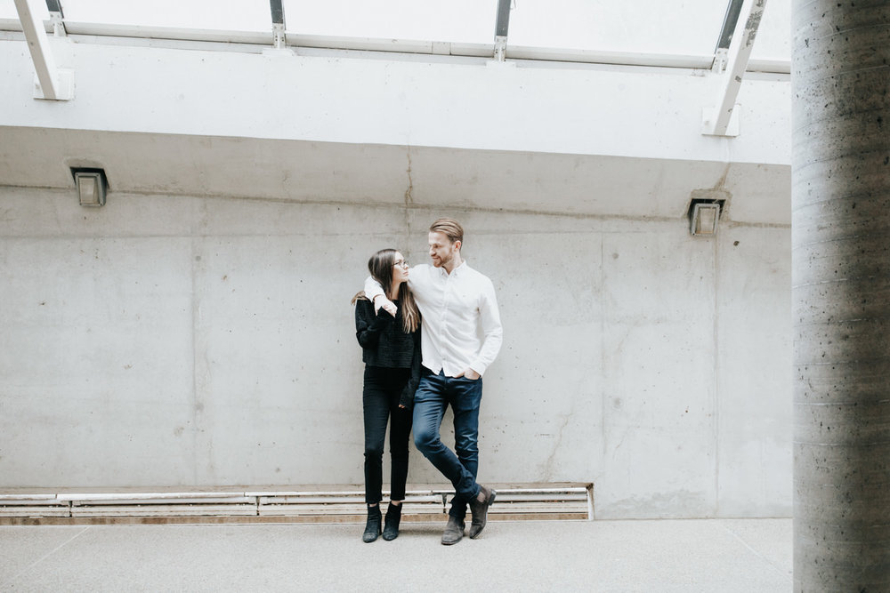 Emma & Davey : Minimalist Urban Portrait Session - Canberra Wedding Photographer Jenny Wu Straight No Chaser Photography