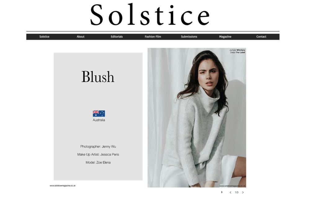 Blush- Editorial Story // Solstice Magazine, Jenny Wu Photography