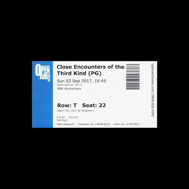 — 🎟 Regent's Park Open Air Theatre 📍 London, UK 🎥 Close Encounters of the Third Kind 🗓 2017