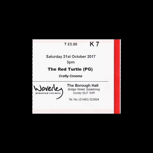 — 🎟 Crafty Cinema 📍 Godalming, UK 🎥 The Red Turtle 🗓 2017