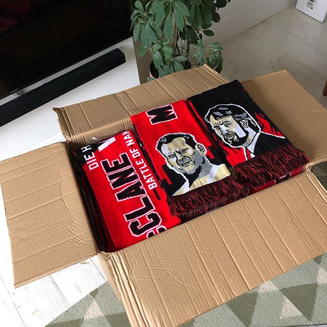 All remaining orders of the die hard scarf are shipping out today. Still a handful left on the store, but be quick! (Link 👉 bio) 📬📬📬📬📬📬