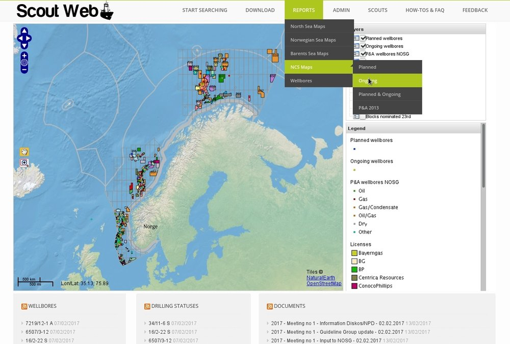 The ScoutWeb portal enables operators working on the Norwegian Continental Shelf to share information about ongoing operations and potential data trade opportunities.