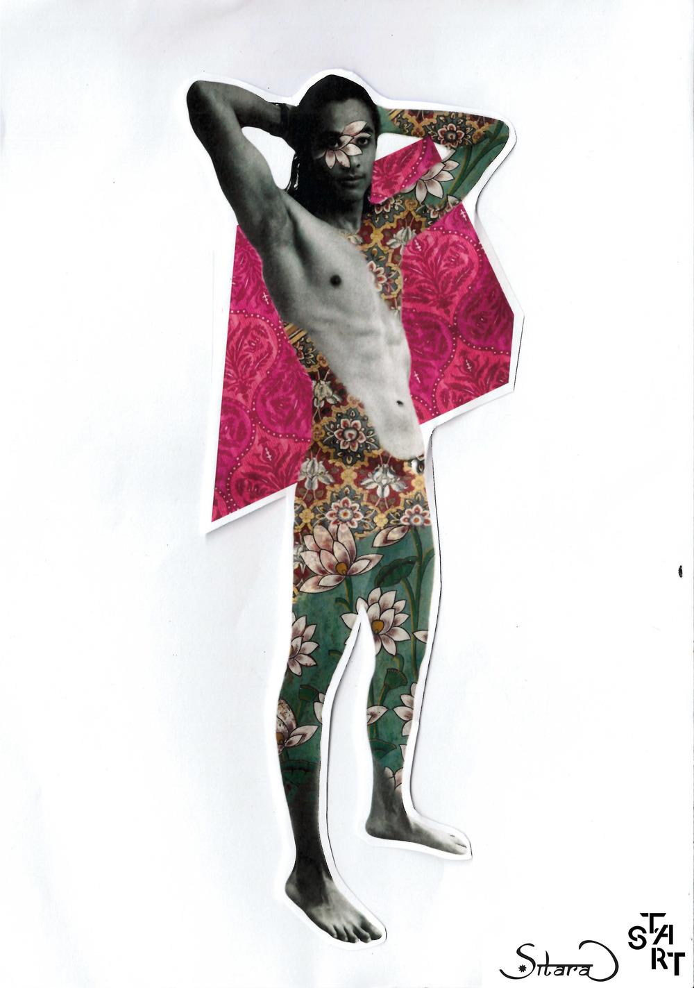 Model: Mohit Seth. Collage: Cordelia Diamond.