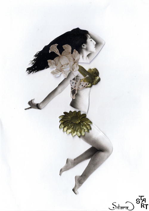 Model: April Ma. Collage: Alysha Radia.