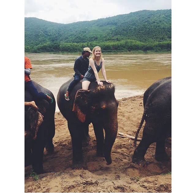 Caitlin in Luang Prabang, 2015.