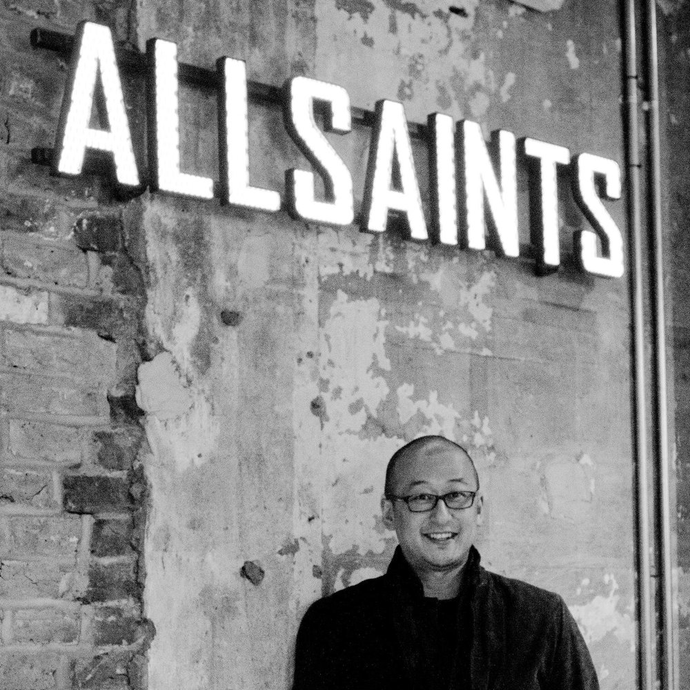Image of Kim William, CEO of Allsaints. Source via: https://twitter.com/williampkim