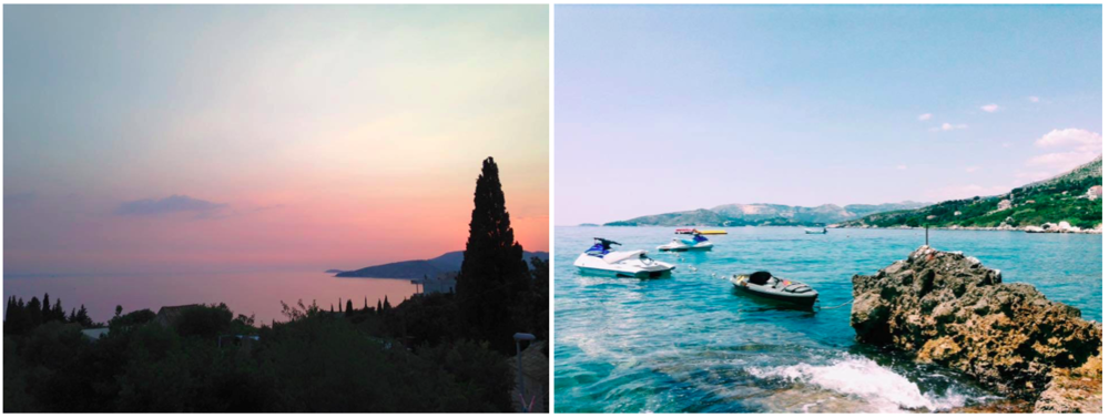 Two photographs of the coast taken just outside the city center. Photography by Freyja Pakarinen and Hannah Jolley.