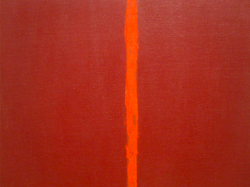 'Onement, I', Barnett Newman (1948): Art, or just a figment of our imagination? Image sourced from https://goo.gl/WEgx43