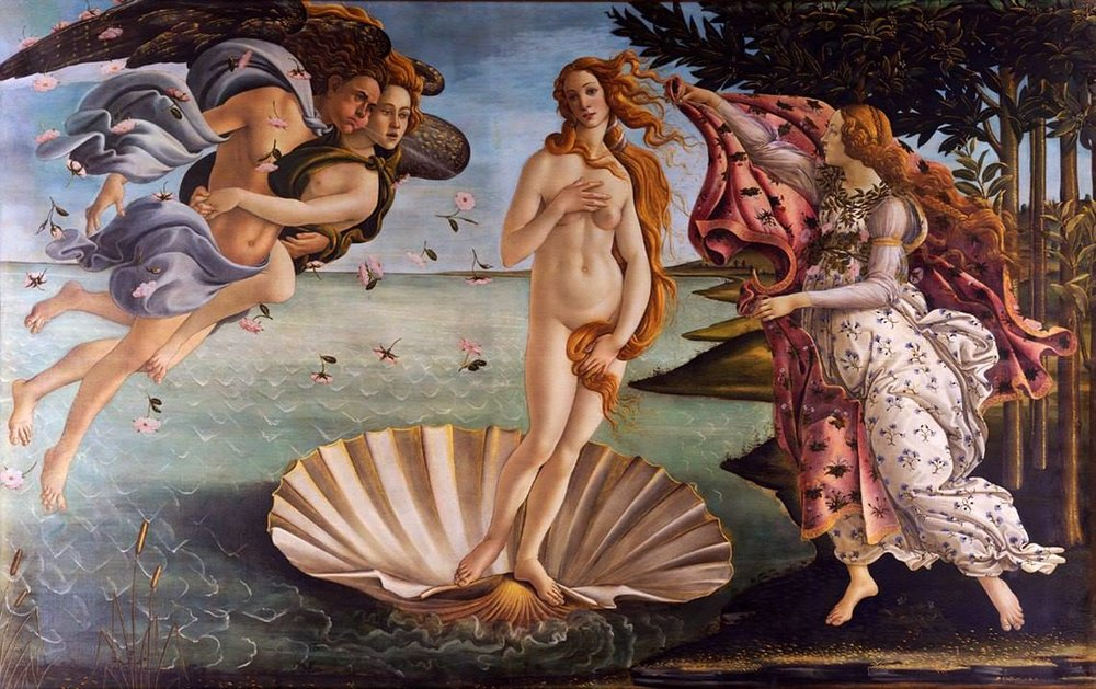 Sandro Botticelli, 'The Birth of Venus' (1484-1486) Image sourced from https://goo.gl/D3NFhR