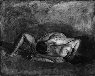 Wrestlers, Thomas Eakins (1899).