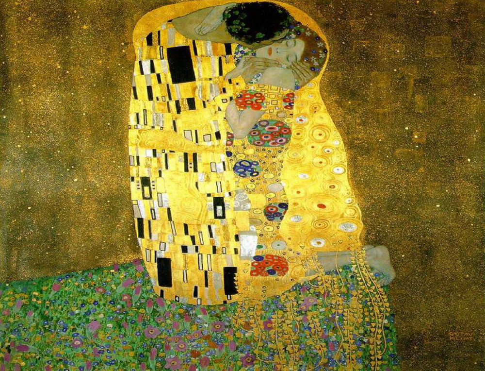 Gustav Klimt,  The Kiss , 1607-1608