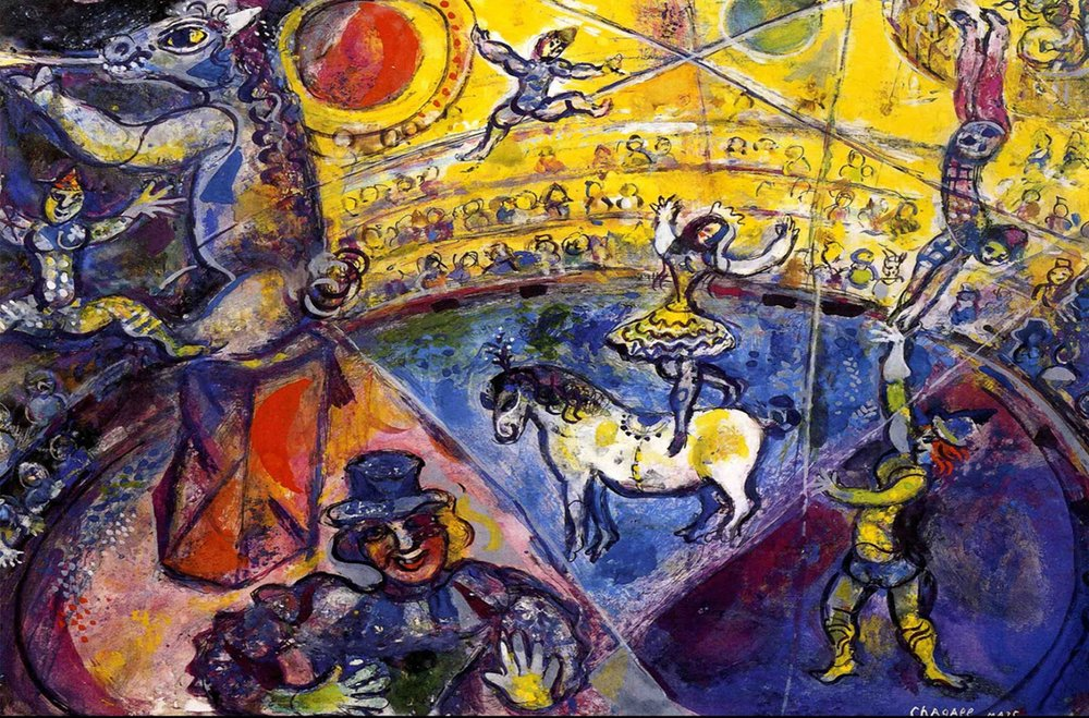 Marc Chagall,  The Circus , 1964