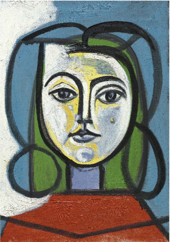 Pablo Picasso,  Tete De Femme - Portrait De Francoise,  sourced from https://goo.gl/jDGvSk