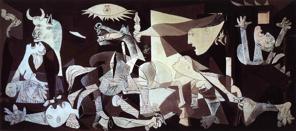Guernica , Pablo Picasso, 1937 sourced from https://www.pablopicasso.org/images/paintings/guernica3.jpg