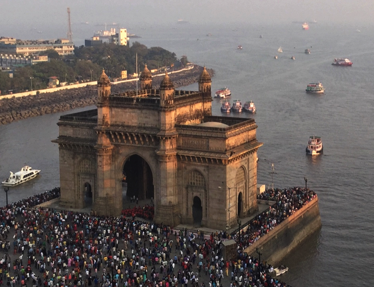 View of the Gateway to India in Mumbai