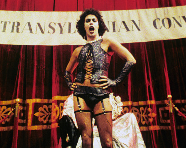 Dr Frank N Furter, portrayed by Tim Curry, in the 1975 movie adaptation.