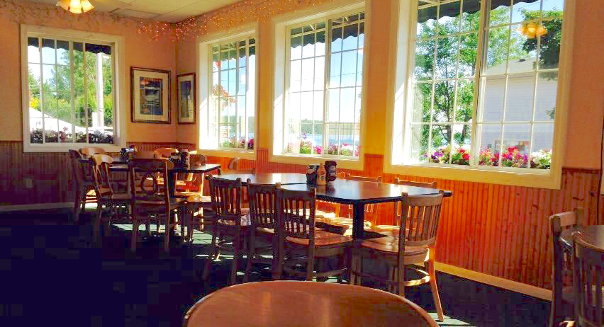 Enjoy our bright dining room with the best view on Main Street!