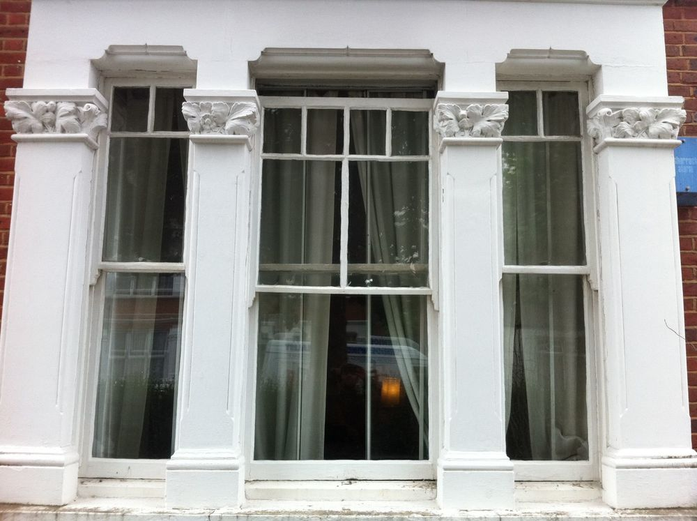 Judy's original wooden sash windows before we changed them