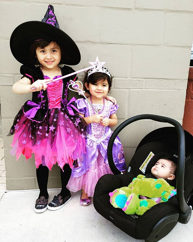 My little witch, princess, and monster...