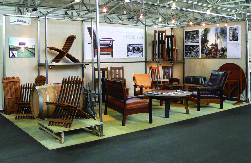 Whit McLeod Furniture: Trade show booth design, graphics, and set-up. 1998-2009. Photo from American Craft Council Show, San Francisco, 2006.