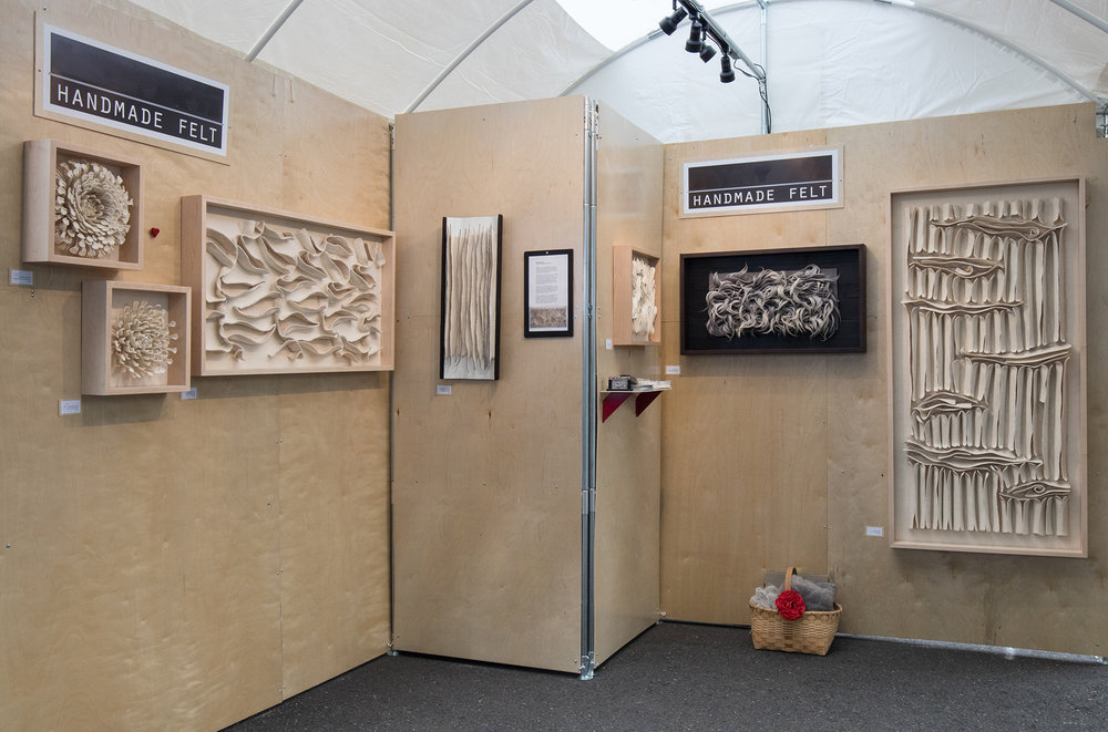 Kristy Kun Handmade Felt : Trade show booth design, construction, and set-up 2015-current. Photo from Art In the Pearl, 2016