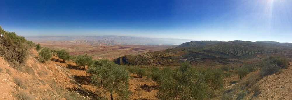 The Jordan Valley and the hills of Jericho