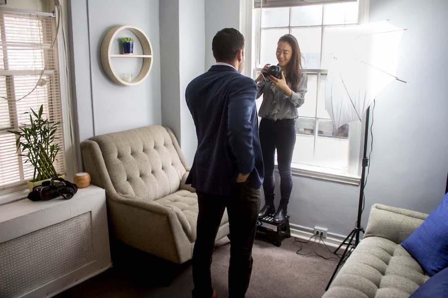 Zencare founder Yuri Tomikawa at a therapist photoshoot.