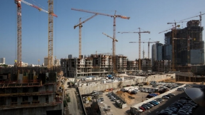 A busy construction site in the center of tel aviv.   courtesy: times of israel