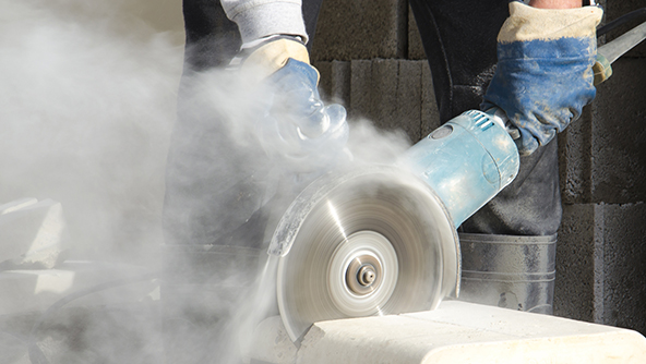 Respirable crystalline silica dust.   Courtesy: MSDSonline