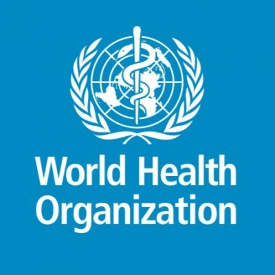 Logo of the World Health Organization.