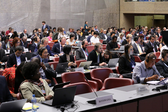 Day 1 of the 11th meeting of the Basel Convention Open-ended Working Group.  Courtesy: BRS MEAS via Flickr