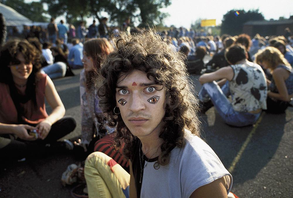 At the Acid Daze Festival, Finsbury Park 1987.