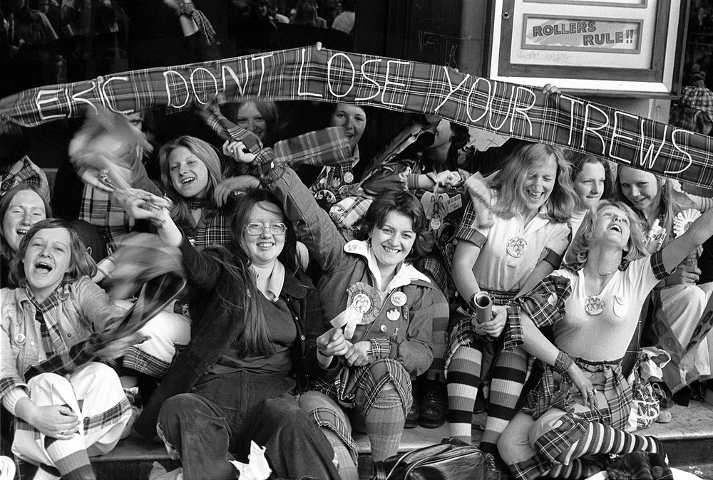 Bay City Rollers fans, Hammersmith 1975.