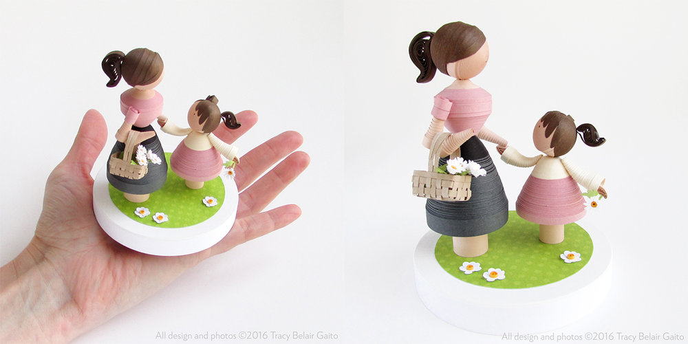 Mother and Daughter Figurines