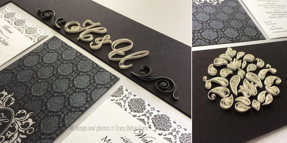 Wedding Invitation Keepsake - custom made gift for the couple