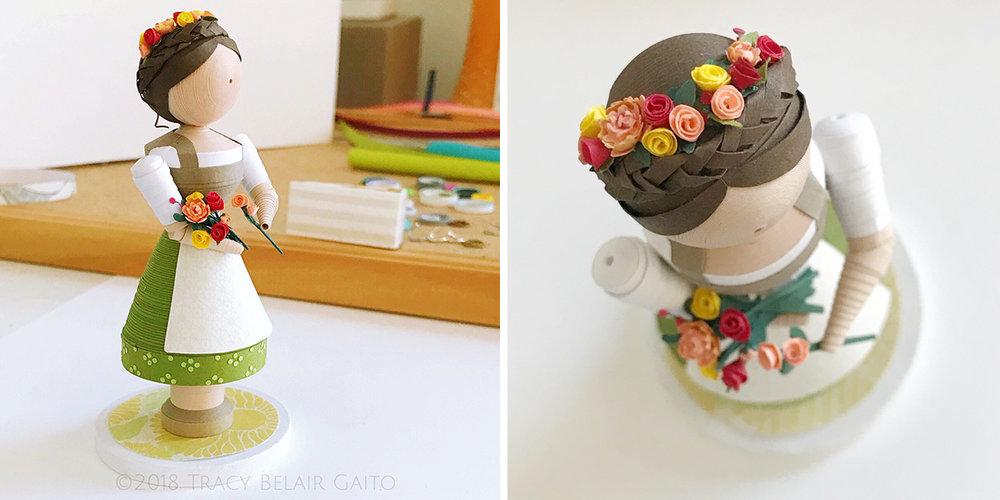 Single figurine custom designed in Dirndl