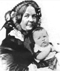 Stanton with one of her children.