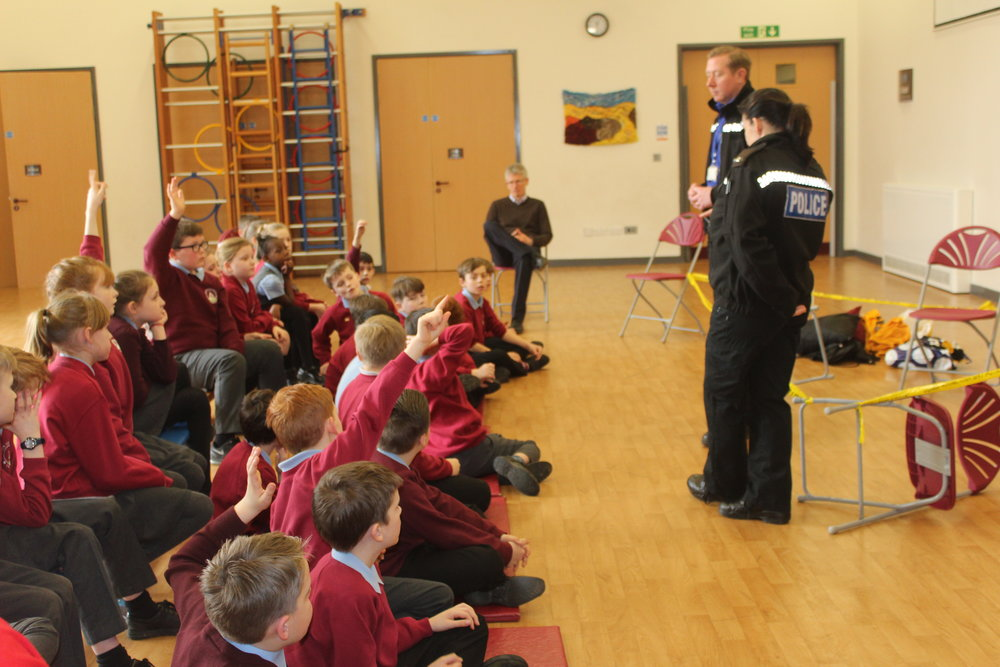 Personal Liberty - Three Police offers came into school to talk to the children about the role of the Police in keeping us all safe. They talked about the methods they use in positive policing: coming into schools, helping people in need and being a positive presence in the community. They explained that they never want children to think that they have to run away from a Police Officer. They want people to run to Police Officers if they feel like they need help! They talked about how we all have responsibilities to be good citizens and it's only when people aren't good citizen, that they need to get involved - to protect everyone!
