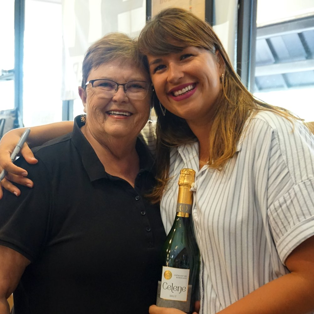 (left) Jackie Cox, Wine World (right) Celine Lannoye, Celene Bordeaux