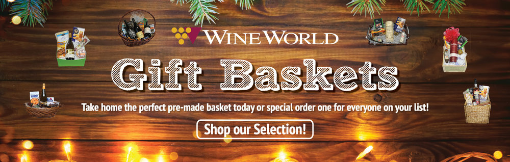 Shop our selection of baskets or fill out a custom order form for a personalized gift with his or her favorite beverages, snacks, and accessories!  CLICK HERE