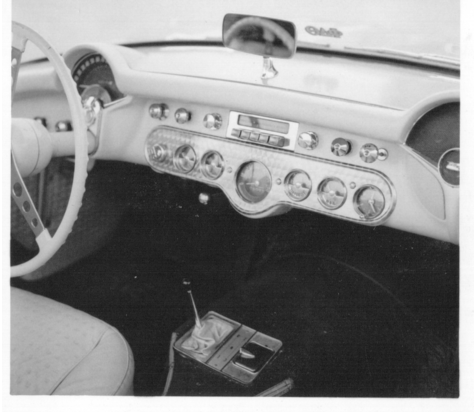 A nearly new Corvette when our founder Ernie Haneline made an engine turned dash overlay for it.