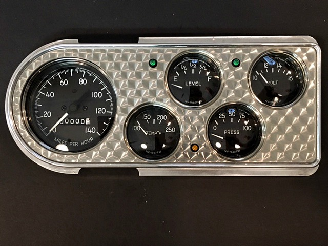 1948-1950 ford pickup dash with nvu 1940 instruments