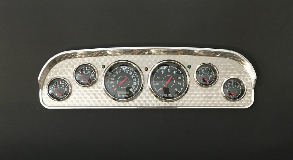 1957-60 ford pickup dash with nvu 1967 series instruments