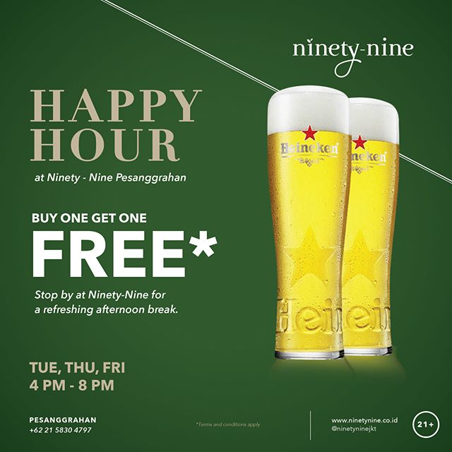 Lots of excitements await, grab your friends and prepare for good times at Ninety-Nine.